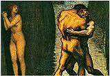 Franz von Stuck The Struggle for Women 2 Art Print Poster 19 x 13in