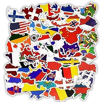 Paquete de 27 pegatinas de banderas del mundo – Banderas nacionales – mejor para ordenador portátil