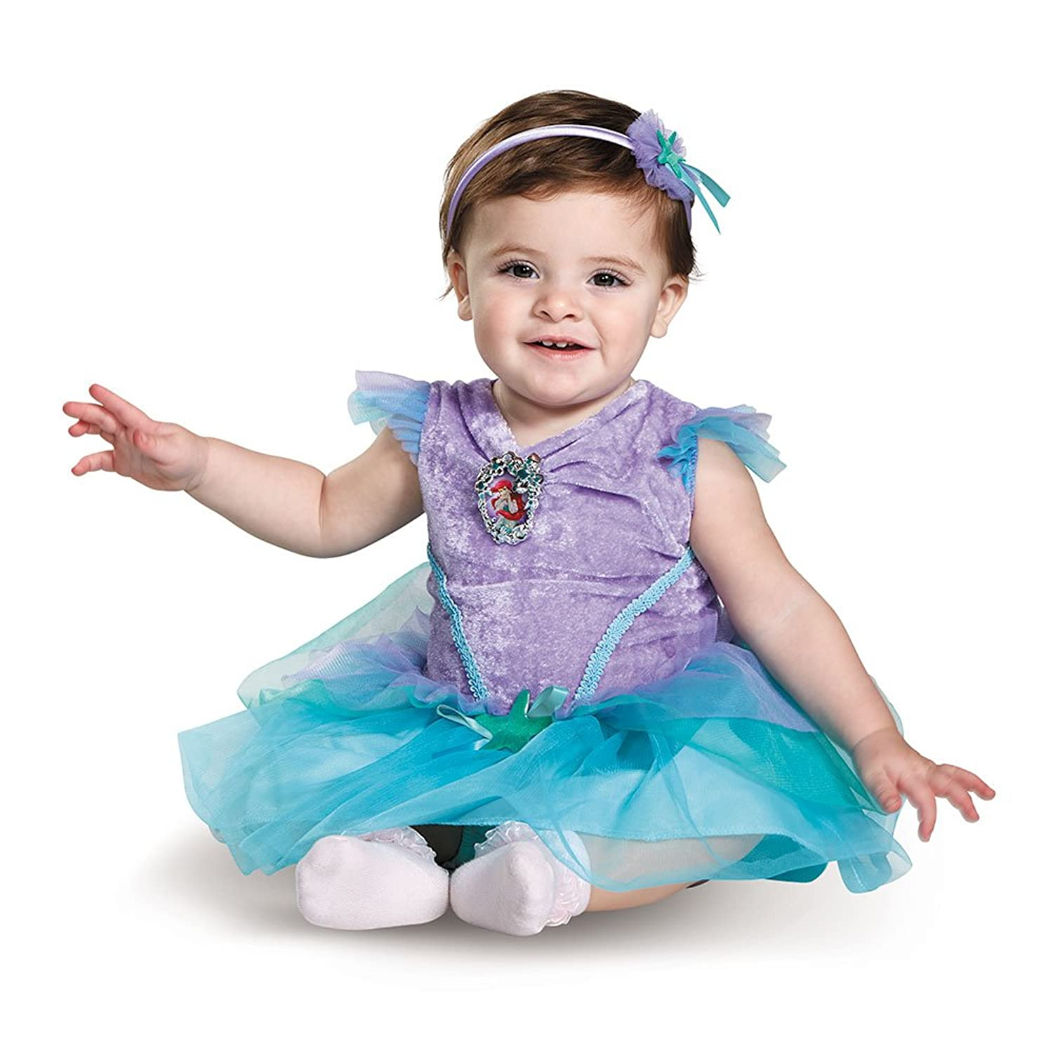 sc 1 st  Amazon.com & Amazon.com: Disney Baby Girlsu0027 Ariel Infant Costume: Clothing