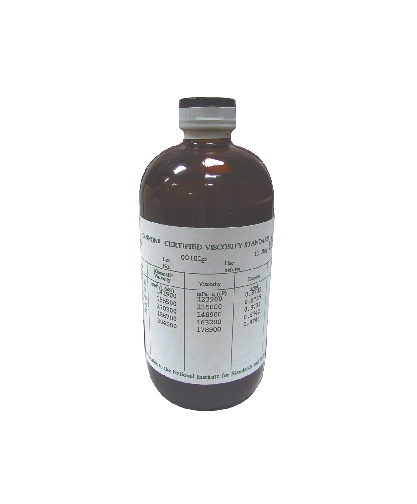 Cannon General Purpose Viscosity Standards, 20 to 100° Celsius, 500ml Volume, Size S2000
