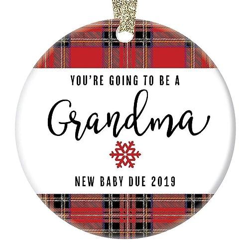Amazon.com: You're Going To Be A Grandma Ornament, 2019 Pregnancy ...