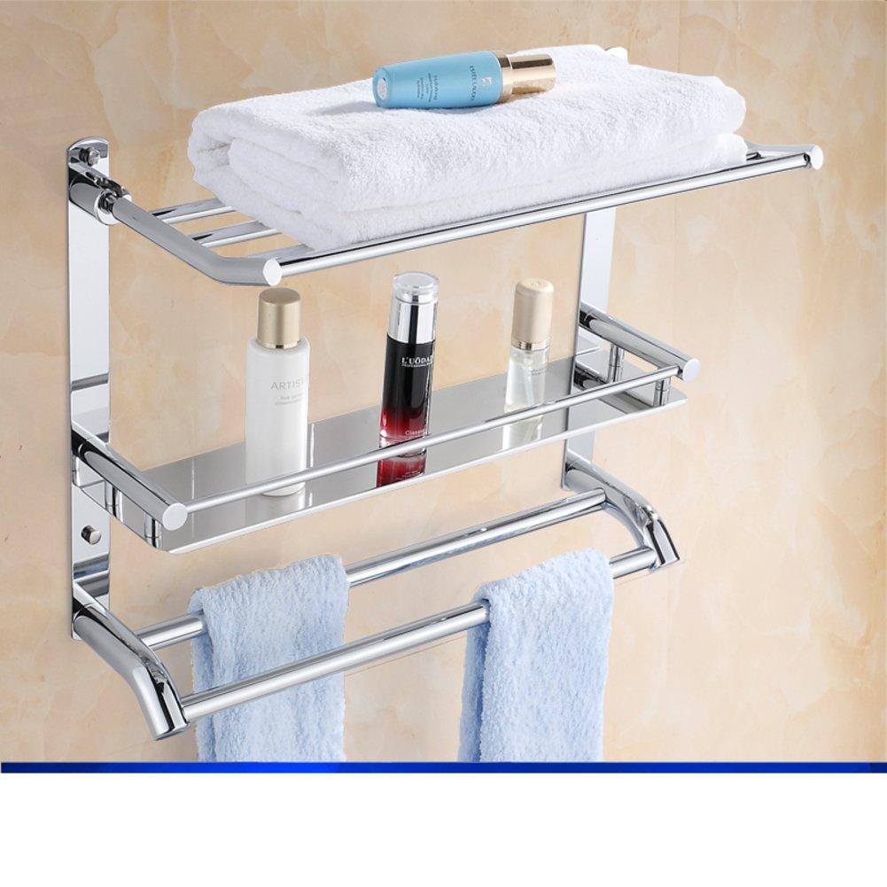 Stainless steel Towel rack/toilet/Bathroom storage rack/ folding ...