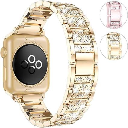 Image ofCorrea de Repuesto Compatible con Smart Watch de 40 mm 38 mm, Ajustable Pulseras Correa de Diamante Compatibles con Watch Series 5/4/3/2/1