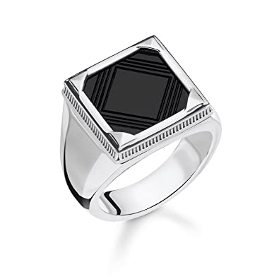 1089b17a8906 Thomas Sabo Men Ring Onyx 925 Sterling Silver