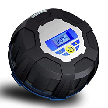 ZHAS Inflador de neumáticos Digital Manómetro Digital LED, 12V Portable neumático de la bomba eléctrica