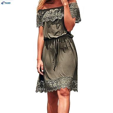 f683d448cf89a Familizo-Donna Vestito da donna❤Fami Vestito da donna in pizzo a vita alta