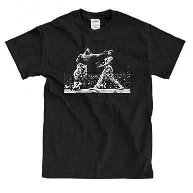 0ffa14a34418 Amazon.com: KoolKidzKlothing Joe Frazier Muhammad Ali Black T-Shirt ...
