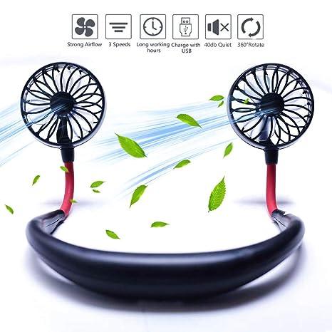 Amazon.com: Miniventilador USB de mano recargable con doble ...