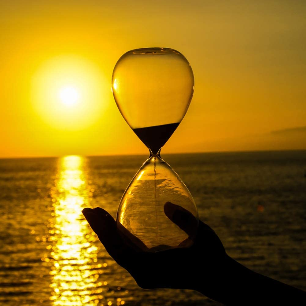 Magnetic Hourglass Sand Timer Clock Glass Classic Home Desk Decor Weiye Hand-blown Timer Magnet Hourglass