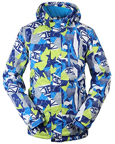 TUONROAD Ski Jacket, Mens Waterproof Windproof Snow Jackets with Removable...