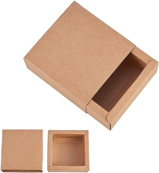 BeesClover 20 Cajas de Papel Kraft Tipo cajón Caja de Regalo Caja de joyería Organizador de Papel Kraft Color 6,5 x 6,5 x 3 cm Estilo de Vida: Amazon.es: Hogar