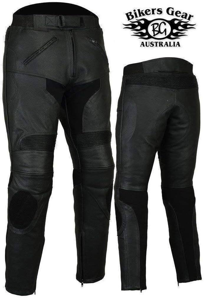 Mit CE-Protektoren EU 42 reg Bikers Gear Motorrad-Lederhose