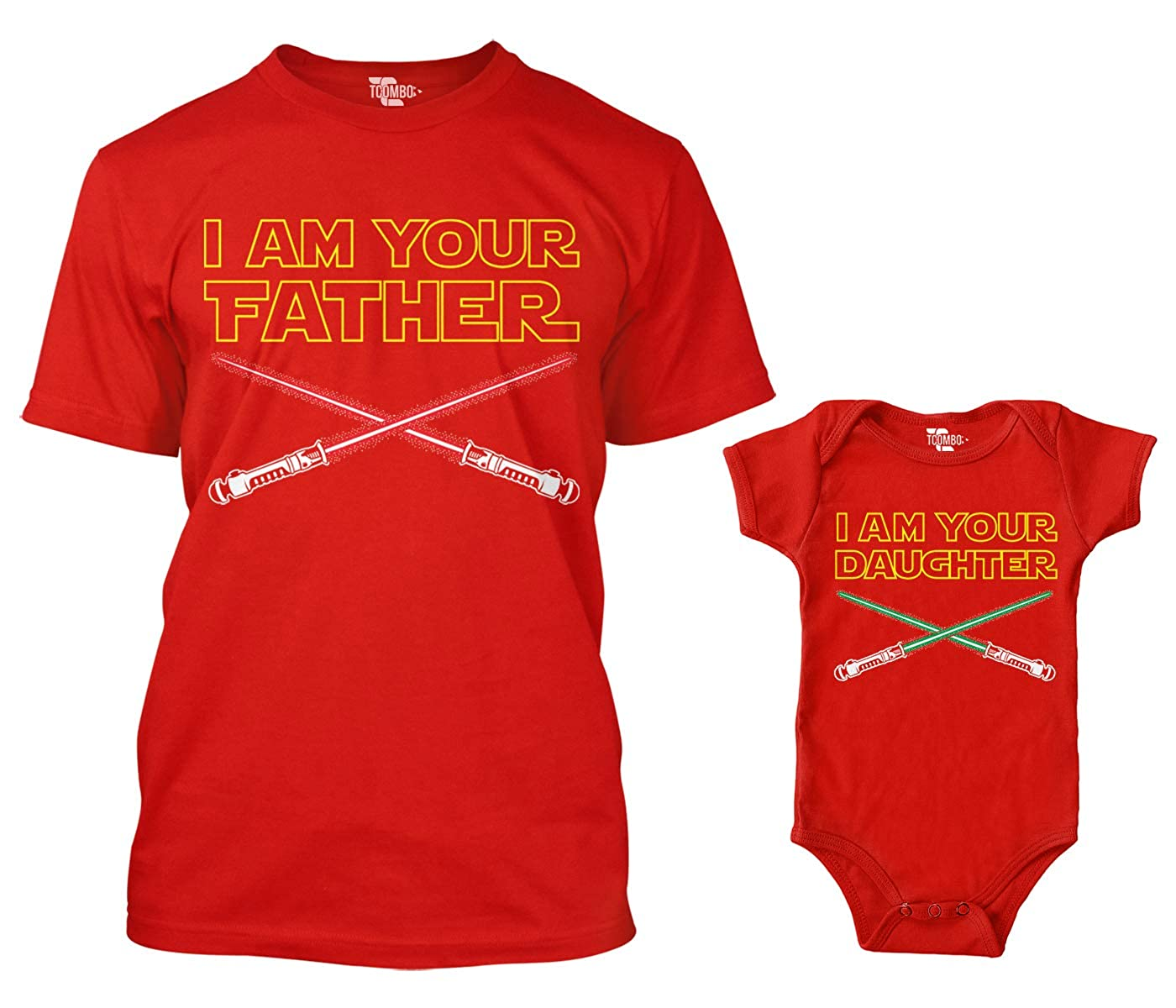abf59898 Amazon.com: I Am Your Father/I Am Your Son Matching Bodysuit & Men's T-Shirt:  Clothing