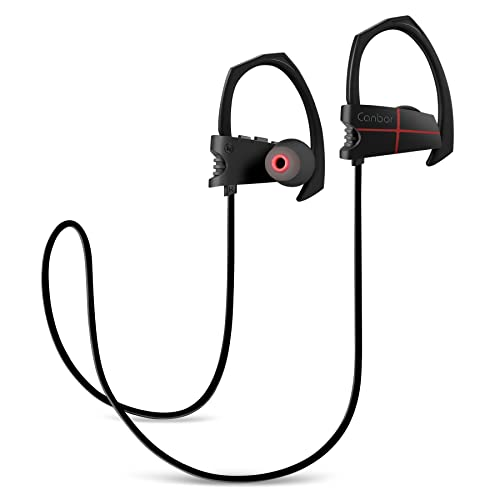 Canbor bluetooth wireless headphones - with IPX 5 Waterproof CSR Chip CVC 6.0 Noise Cancelling, Comfortable for Sport, iphones