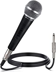 Pyle Professional Dynamic Vocal Microphone - Moving Coil Dynamic Cardioid Unidirectional Handheld Microphone with ON/OFF Swi