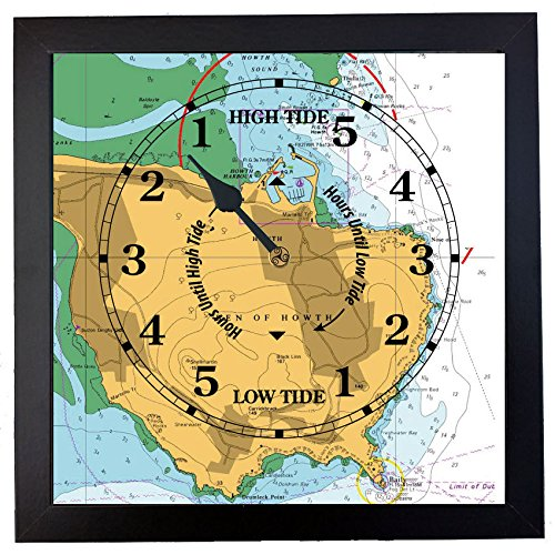 Howth harbour framed nautical chart tide clock dublin ish sea howth harbour framed nautical chart tide clock dublin ish seaft for sailors gumiabroncs Gallery