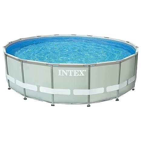 Intex Ultra Frame - Piscina desmontable, 488 x 122 cm, con depuradora y complementos