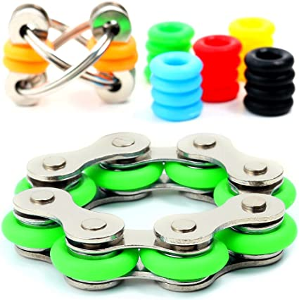 Roller Chain Fidget Toy Stress Reducer Perfect For ADD ADHD Anxiety Adults Kids