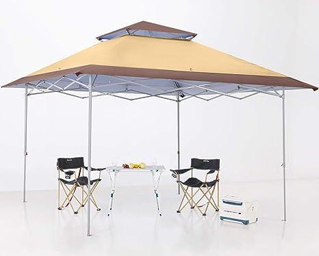 ABCCANOPY Toldo plegable de 3,6 x 3,6 m, refugio instantáneo de 169 pies cuadrados para exteriores, bolsa de transporte con ruedas, bolsas de ...