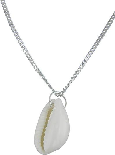 Sicuore Collar Concha Marina para Mujer Hombre - Plata de Ley 925 Incluye Cadena 60cm Y Estuche para Regalo: Amazon.es: Joyería