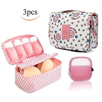 ac55e07dc30e Toiletry Bag travel Makeup Bag Organizer Bra Underwear Storage Bag travel  Lipstick bag Cosmetic Bag...