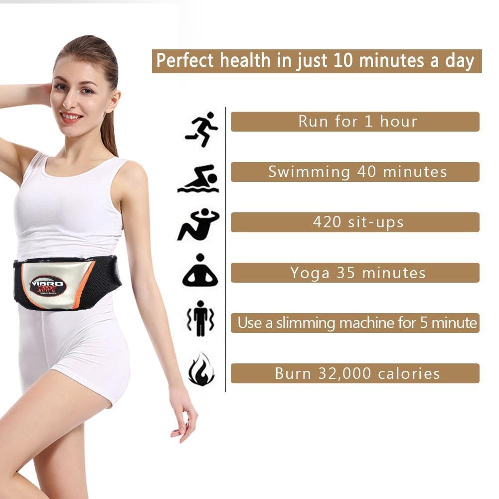 Semme Fajas Reductoras Adelgazantes eléctrica Cinturón pérdida de peso cintura vibrante masajeador cinturón que adelgaza quema grasa cuidado de la ...