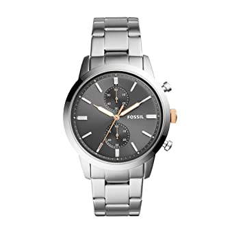 7034d882c73 Amazon.com  Fossil Men s Townsman Quartz Watch with Stainless-Steel ...