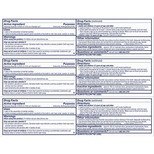 Sensodyne Rapid Relief Sensitivity Toothpaste, Extra Fresh, 3.4 ounce (Pack of 3) by Sensodyne (Image #1)