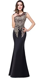 71c9f0820c6d MisShow Women's Rhinestone Long Lace Formal Mermaid Evening Prom Dresses