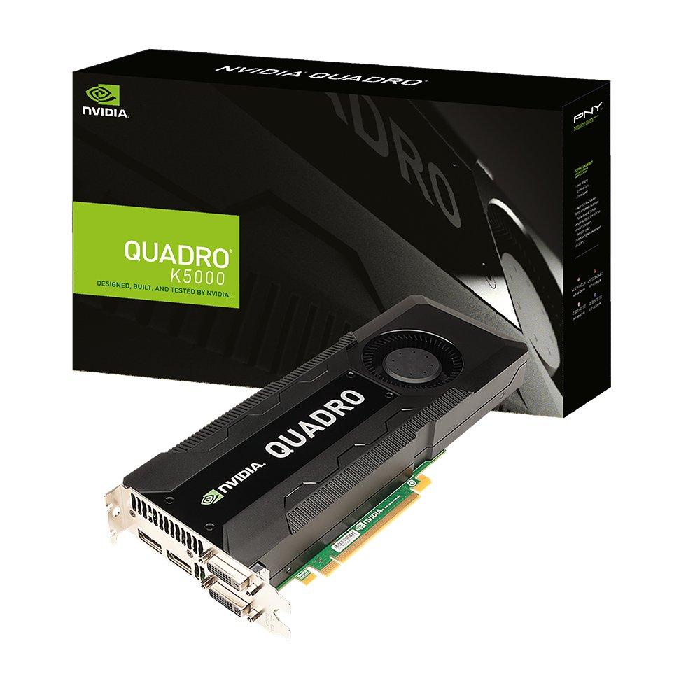 PNY Nvidia Quadro K5000 4GB Procesador gráfico Familia de procesadores de gráficos Quadro K5000 NVIDIA 4GB - Tarjeta gráfica (Quadro K5000, ...