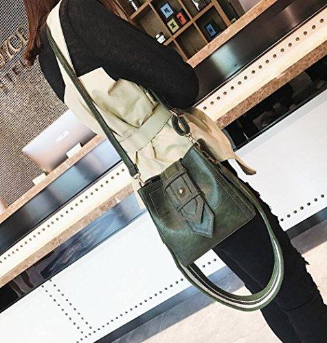 Sacs Shopping Sacs Fourre Sac Main QIAOY à Bandoulière Cuir Sacs Mode Sacs Épaule À à En Sac Femmes Cuir Sac Sacs Tout Main En Green Femmes Embrayages x4w6YqYB
