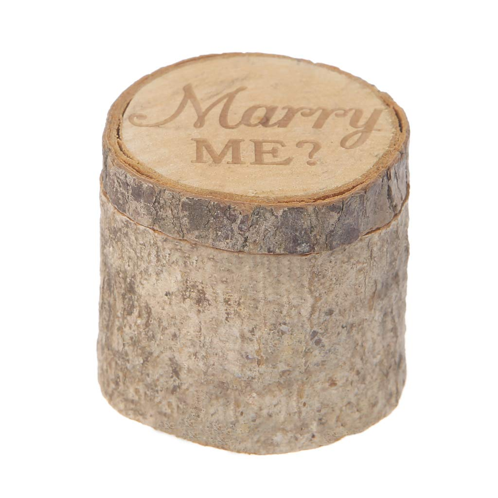Youlin - Caja para anillos de madera, 6 x 5,2 cm, para ...