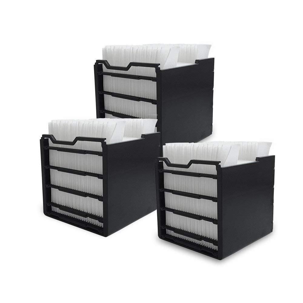 Remplacement de filtre pour le climatiseur mobile de refroidisseur d'air de mini ventilateur d'air avec 3 PCs, 11.5 * 11.5 * 11.5cm