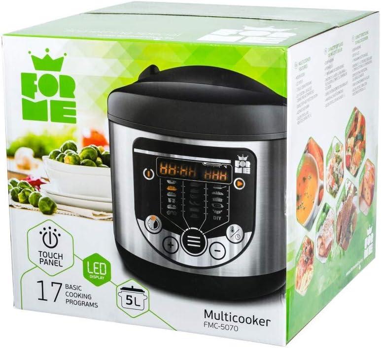 Forme Robot de Cocina Multifunción | 17 Funciones | Panel LED | Multicooker 860W | 5L Olla | Temporizador | Robot Cocina Programable | Libre de BPA: Amazon.es: Hogar
