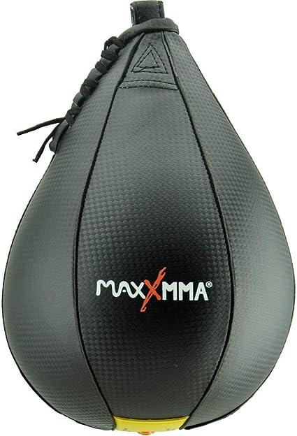 "MaxxMMA Speed Ball Speed Bag Large 10/"" x 7/"" PUMP INCLUDED Type II"