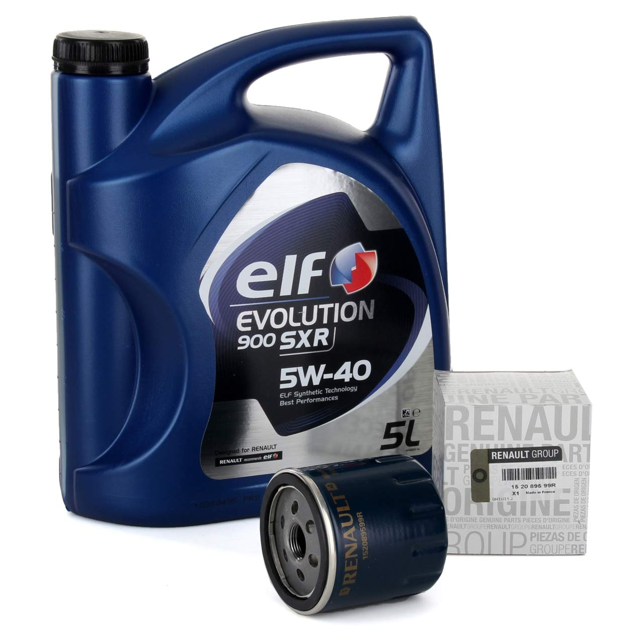 Duo Servicio Cambio de Aceite - Elf Evolution SXR 5W-40 5 lts + Filtro aceite Original 152089599R: Amazon.es: Coche y moto