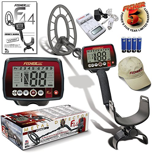 Fisher F44 Metal Detector Bonus Package with 11' Coil and 5 Year Warranty
