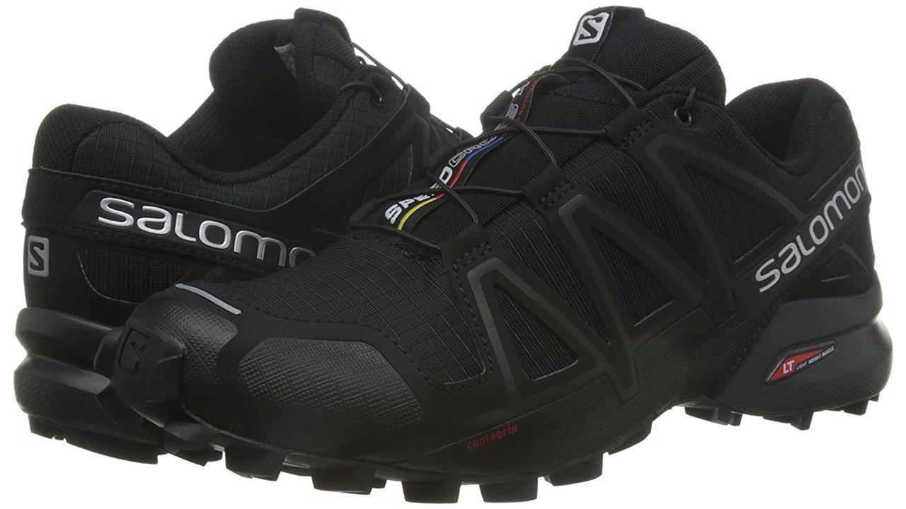 Salomon Men's Speedcross 4 Trail Runner, Black A1U8, 7 M US by Salomon (Image #9)