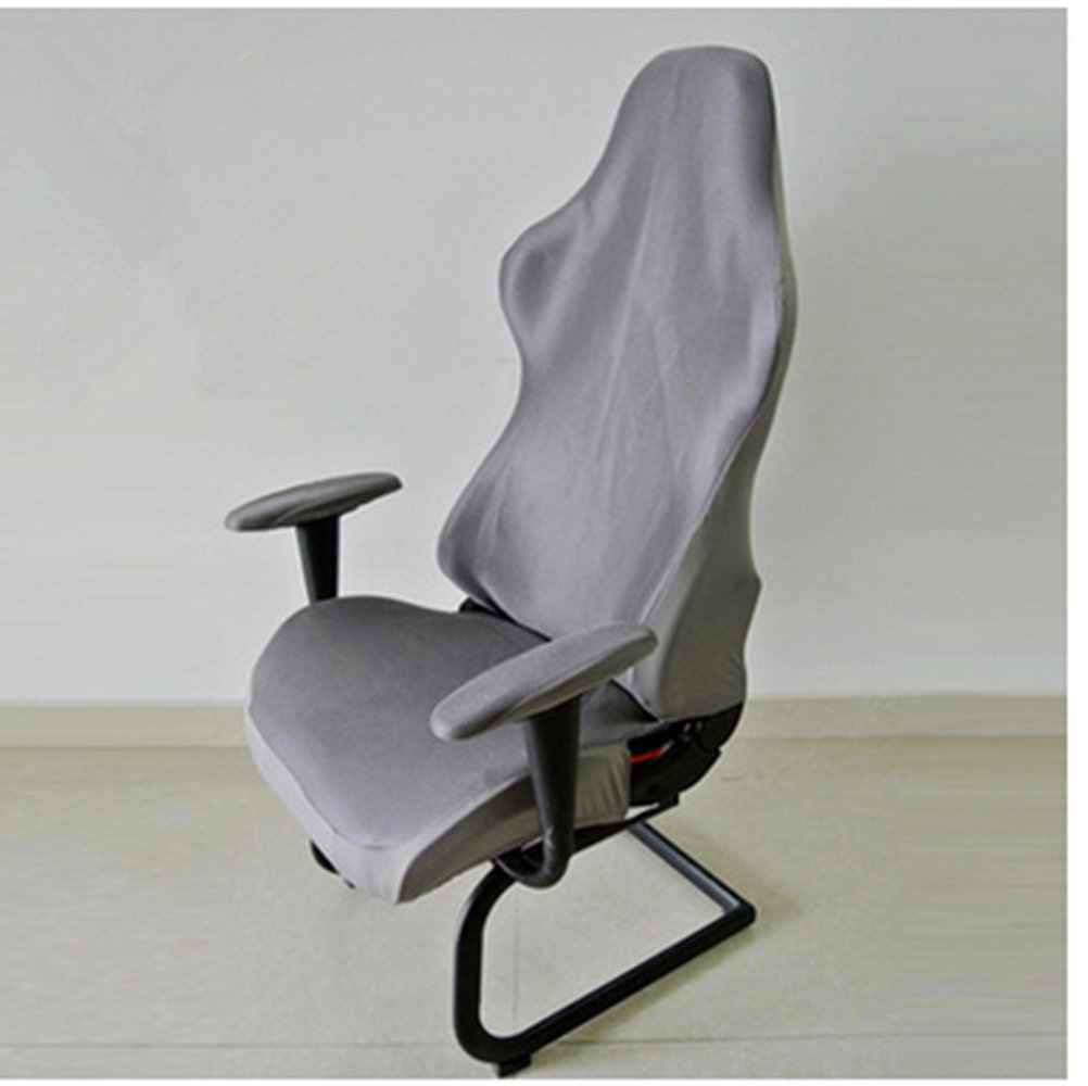 Seiyue Computer Chair Cover Gaming Chair Cover Home Office Chair Cover (Black2)