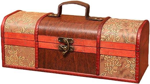 UPKOCH caja de regalo de vino de madera botella antigua caja de ...