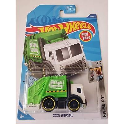 Hot Wheels 2020 Hw Metro Total Disposal, Green 55/250: Toys & Games