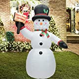 Fashionlite 8 Feet Christmas Xmas Inflatable Placard Snowman Lighted Blow-Up Yard Party Decoration