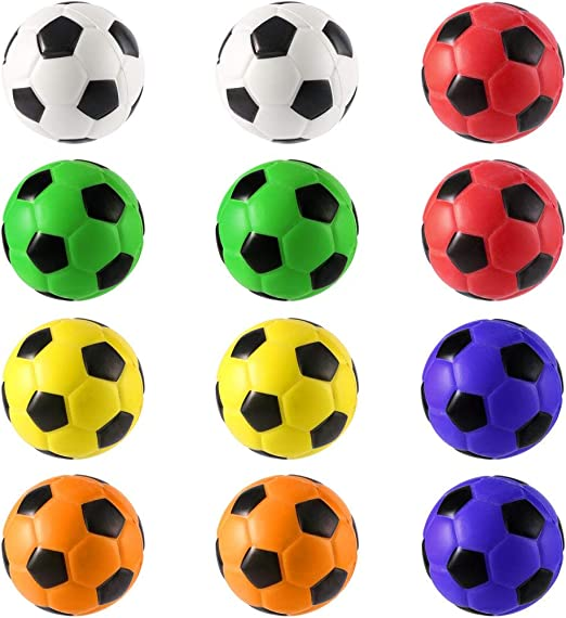 12pcs fútbol Stress Relief esponja pelotas de espuma la mano ...