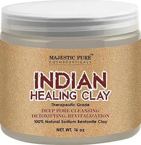 Majestic Pure Indian Healing Clay Powder, 16 Oz