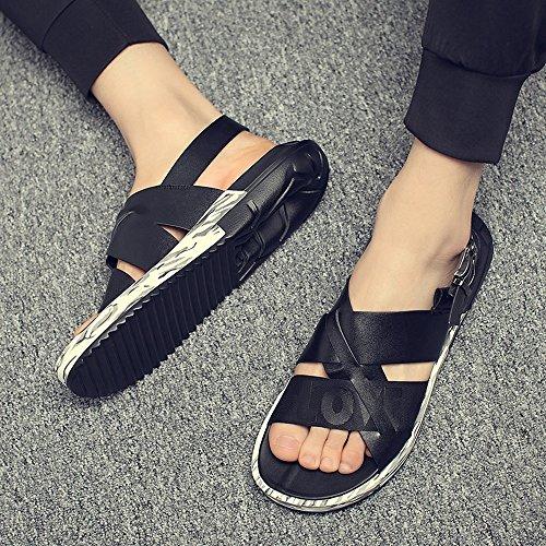 Sunny Nero gentiluomini Colore traspirante per Dimensione Sandalo da Scarpe 41 Nero EU amp;Baby uomo casual Antiscivolo fwxPfprH