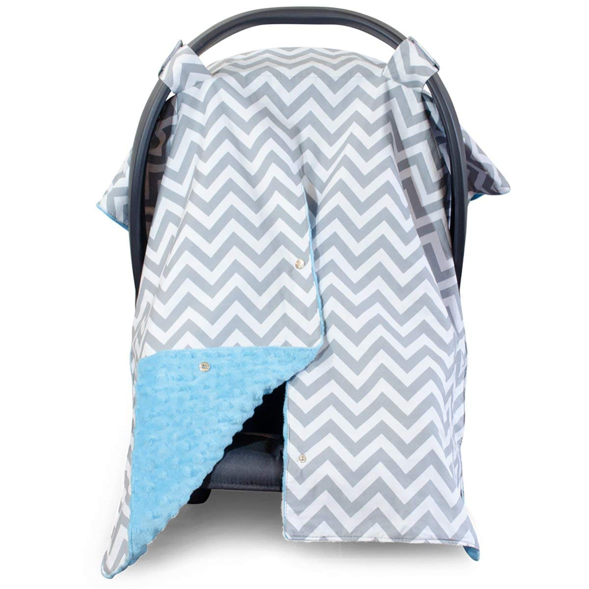 Amazon Com 2 In 1 Carseat Canopy And Nursing Cover Up With Peekaboo Opening Large Infant Car Seat Canopy For Girl Or Boy Best Baby Shower Gift For Breastfeeding Moms