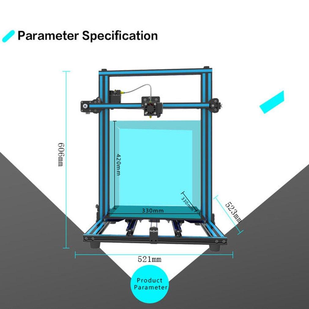 Ohholly Großes Druckgebiet Hochpräzisionsdruckmaschine 3D Drucker Tragbares Druckgerät 3D-Druck & Digitalisierung X3S