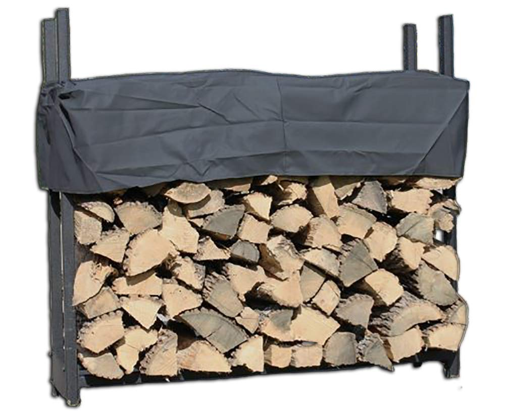 Pioneer 4' Firewood Rack with Cover by Woodhaven