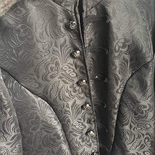 Cosplay Victorian Capispalla Cappotto Marca Jacket Uomo Steampunk Stampato Lungo Da Di Mode Vintage Bolawoo Gothic Schwarz Floreale fW8z8