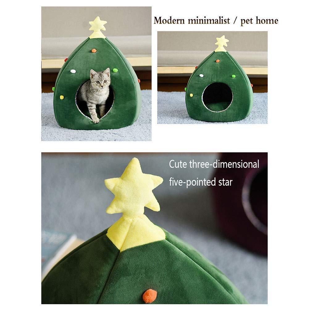 blu Bridge Casa del Cane, Pet Bed Lovely Christmas Tree Tree Tree Soft Cashmere Warm Pet Nest Rimovibile e Lavabile (colore   A) 20950e